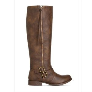 """Brown shoe dazzle boots """"Milay"""", wide calf size 8"""